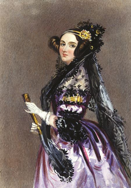 Ada Lovelace portrait by Alfred Edward Chalon