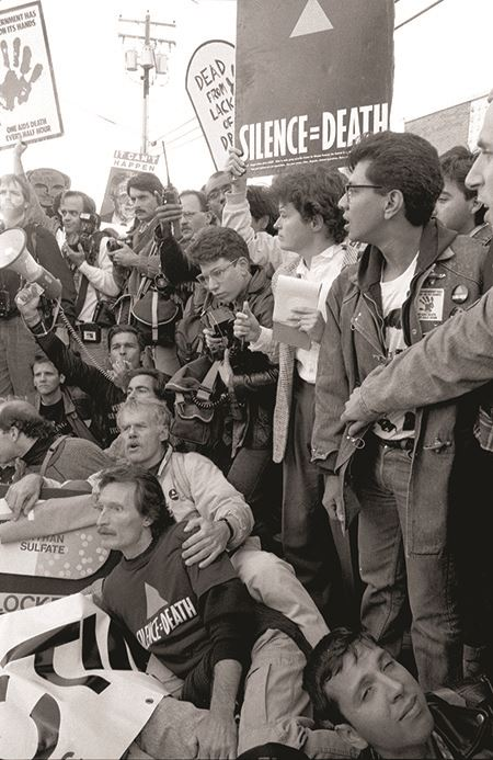 Protests by AIDS activists - 1988