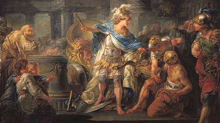Alexander Cuts the Gordian Knot - Berthèlemy