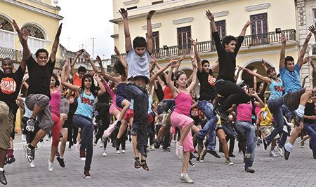 Flash mob in Havana, Cuba