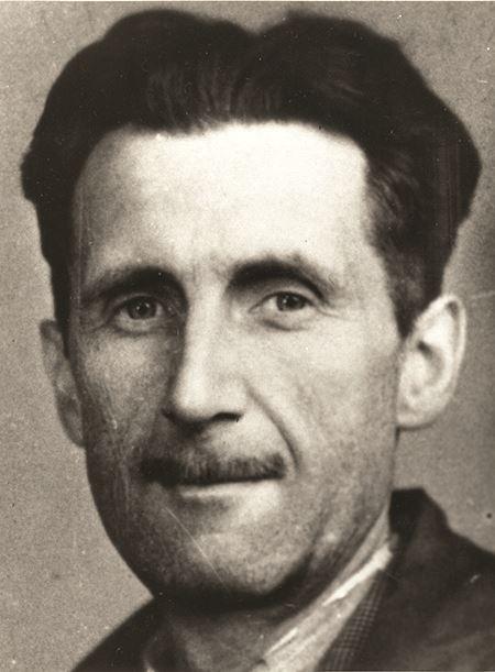 George Orwell 1943 press card portrait