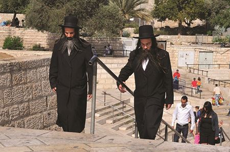 Hasidic Jews in Jerusalem