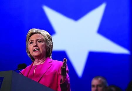 Hillary Clinton - Democratic party nominee 2016