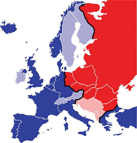 Map of the the Iron Curtain