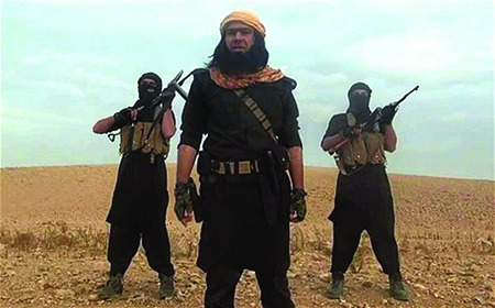 ISIS terrorists from a propaganda video