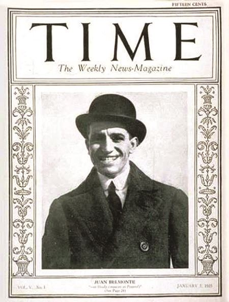 Juan Belmonte cover of Time Magazine - 1925
