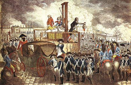 The beheading of King Louis XVI