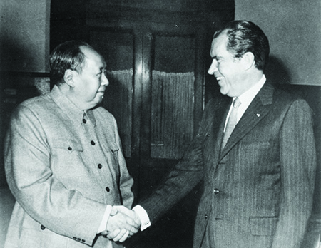 Mao Tse-tung meeting President Richard Nixon 1972