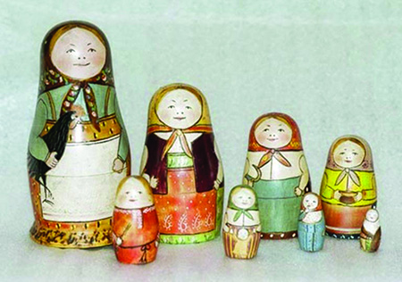 Matryoshka set, believed to be the first ever produced