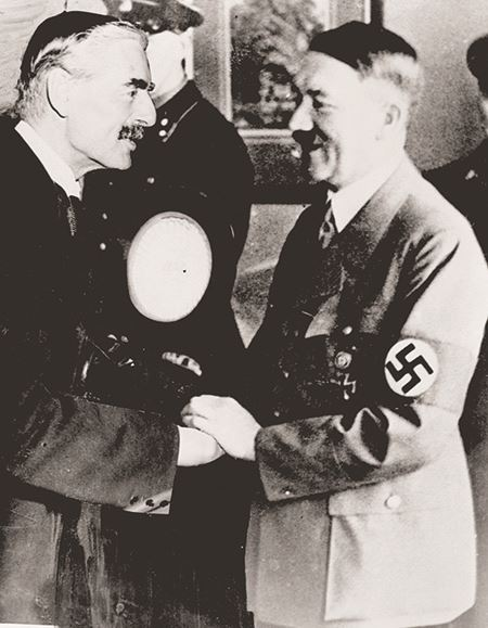 Neville Chamberlain and Adolf Hitler meeting in Germany - 1938