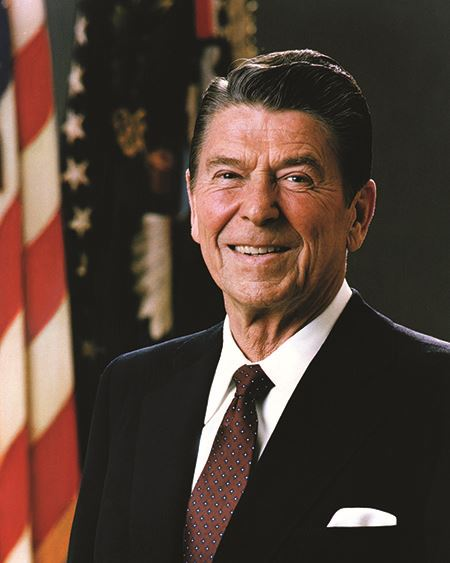 President Ronald Reagan, 40th president of the United States, 1981–1989