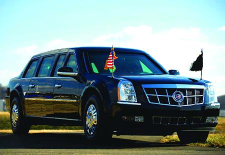 Presidential limousine - custom-built Cadillac