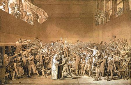 Painting of the Tennis Court Oath - Jacques-Louis David