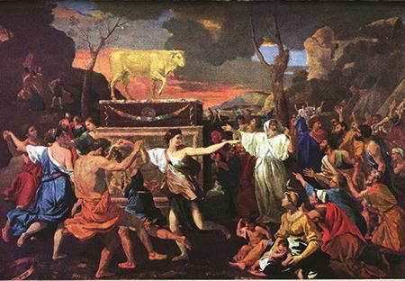 The Adoration of the Golden Calf - Poussin