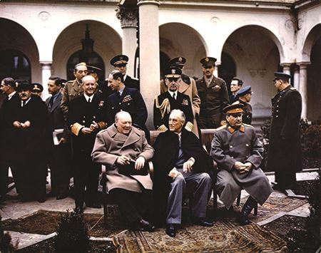 Allied and Soviet leaders at the Yalta conference in 1945
