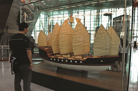 Model of Admiral Zheng He's treasure ship